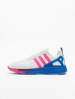 Adidas Originals ZX 2K Flux Sneakers Crystal White/Shock Pink/Blue