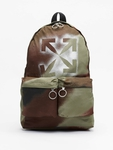 Off White Backpack Camo Brown image number 0