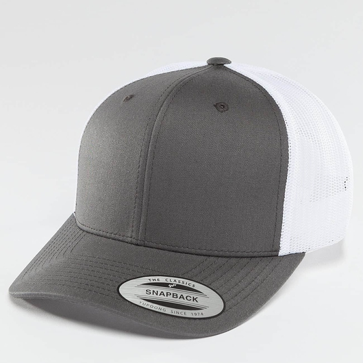 Flexfit Retro Two Tone Trucker Cap Dark Grey/White image number 0