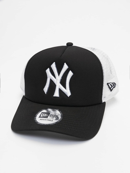 New Era Clean NY Yankees Trucker Cap Black (Adjustable