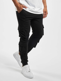 Urban Classics Double Pocket Terry Joggebukser svart