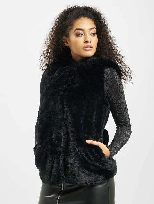 Urban Classics Ladies Hooded Faux Fur Vests image number 2