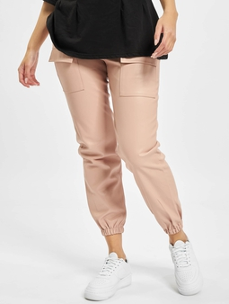 Missguided Pocket Detail Pu Utility Stoffbukser rosa