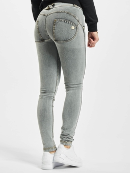 Freddy Regular Skinny Jeans Grey Yellow Seam