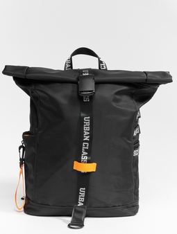Urban Classics Nylon Backpack Black/Neon
