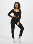 Missguided High Bust Point Long Sleeve Corset Crop Body Black image number 5