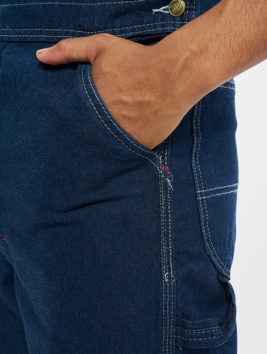 Dickies Bib Overall Pants Washed Indigo (W 42  L 32 blue) image number 2
