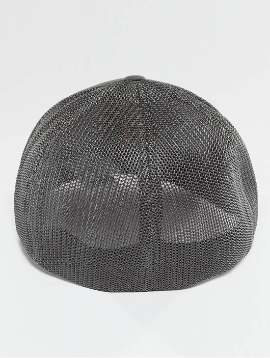 Flexfit Mesh Cotton Twill Trucker Cap Dark Grey image number 1