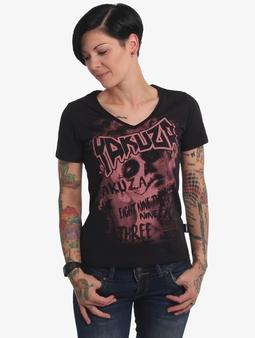 Yakuza Asesinatol V-Neck T-skjorter svart
