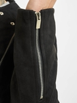 Sixth June Regular Perfecto Suede Fabric Jacket Black image number 6
