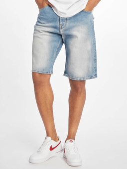 Pelle Pelle Double P Denim Shorts Ice Wash