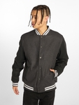 Urban Classics Oldschool 2.0 College Jacket Charcoal/Black/White image number 2