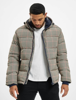 Urban Surface Jacket Beige/Navy/Red Check