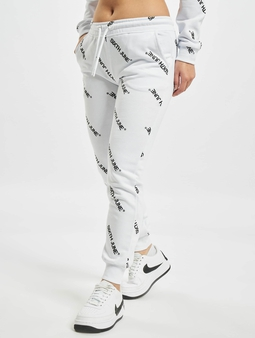 Sixth June Overall Print Sweat Pants White