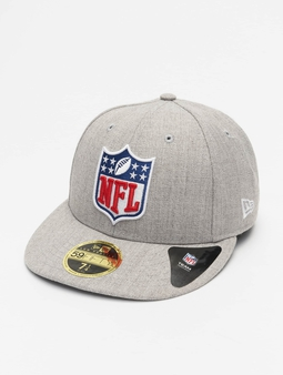New Era League Logo NFL Generic Logo 59Fifty Fitted Cap Heather Grey/Offical Team Colour