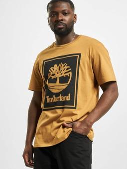 Timberland Yc Stack Logo T-Shirt Wheat/Black