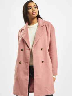 Missguided Oversized DB W Contrast Buttons Coat