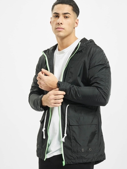 Urban Classics Long Nylon Windbreaker Black/Mint/White