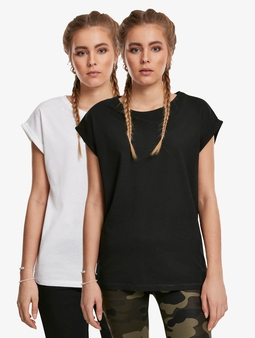 Urban Classics Ladies Extended Shoulder 2-Pack T-Shirt