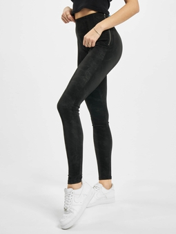 Urban Classics Ladies Washed Faux Leather Pants