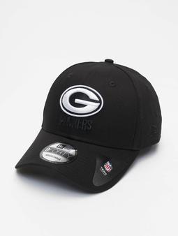 New Era Nfl Properties Green Bay Packers Black Base 9forty Snapback Caps svart