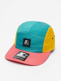 Starter Multicolored Logo Patch Jockey Cap Green/Yellow/Pink