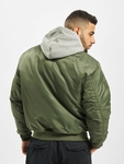 Brandit MA1 Sweat Zip Hoody Olive/Grey image number 1