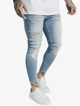 Sik Silk Distresed Skinny Jeans Light Wash