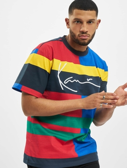 Karl Kani Signature Block T-Shirt Blue/Red/Green/Yellow