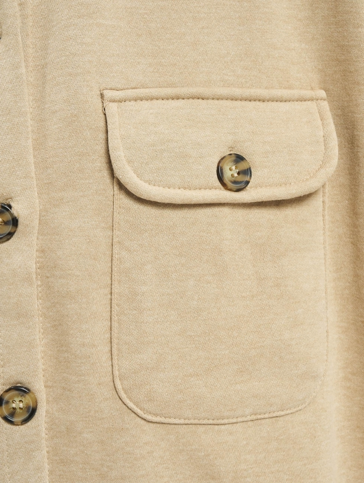 Missguided Petite Soft Shacket Lightweight Jackets image number 3