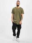Urban Classics Long Shaped Turnup T-Shirt Grey image number 3