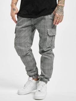 Urban Classics AOP Glencheck Chino bukser hvit