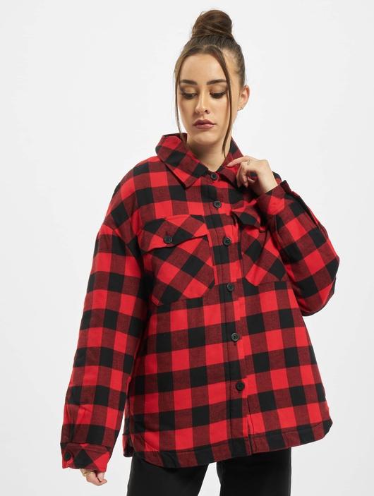 Urban Classics Ladies Flanell Padded Overshirt  Lightweight Jackets image number 2