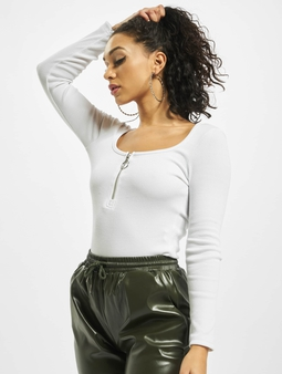 Missguided Petite Zip Front Long Sleeve Body