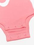 Nike Swoosh S/S Bodysuit 3 Pack Pink Nebula image number 4