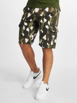 Urban Classics Geometric Stretch Twill Cargo Shorts