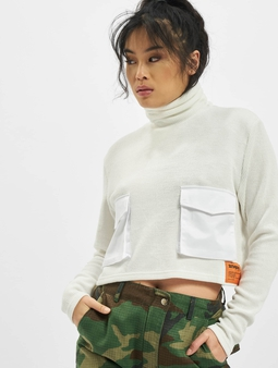 Sixth June Utility Knitwear Top White