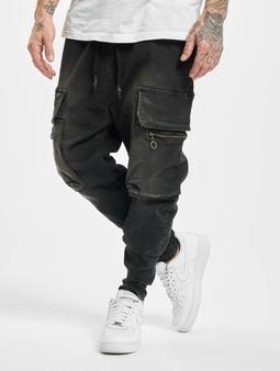 Vsct Clubwear Logan Antifit Denim Cargo Pants Black