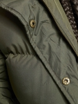 Urban Classics Hooded Puffer Jacket Dark Olive image number 4