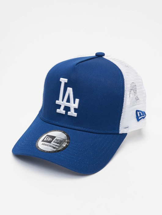 New Era Clean LA Dodgers Trucker Cap Light Royal/White image number 0