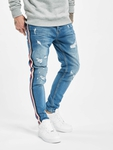 VSCT Clubwear Keanu Multi Colour Stripe Slim Fit Jeans Midblue image number 0