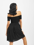 Urban Classics Smoked Off Shoulder Dress Black image number 1