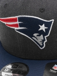 New Era NFL New England Patriots Heather Crown 9Fifty Snapback Caps image number 3