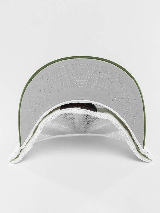Flexfit Mesh Cotton Twill Trucker Two Tone Cap Buck/White image number 1