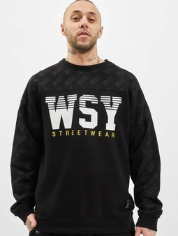 Who Shot Ya? Playa Hater Crewneck Black