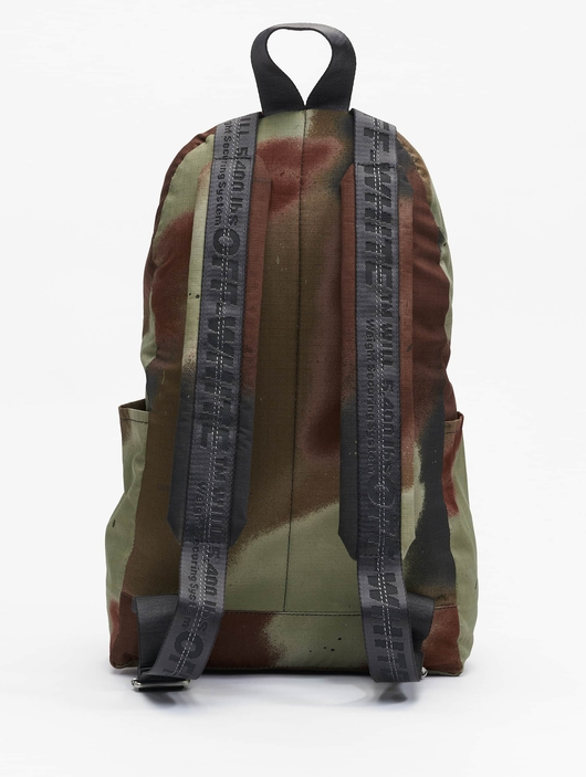 Off White Backpack Camo Brown image number 3
