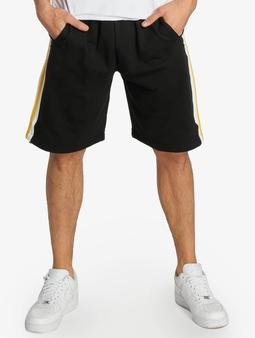 Urban Classics Stripe Sweat Shorts Black/White/Chrome