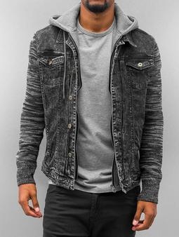 VSCT Clubwear Hybrid Denim Jacket with Moulinee Sleeves