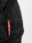 Alpha Industries 45P Hooded Custom Bomber Jacket Black/Refle image number 4