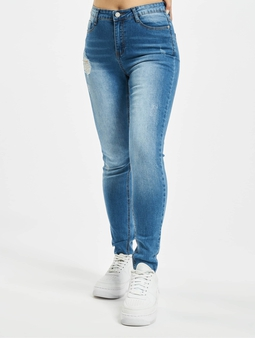 Missguided Petite Sinner Clean Distress Skinny Jeans